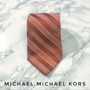 Michael Michael Kors Red Orange Blue Striped Tie